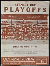 STANLEY CUP PLAYOFFS - Detroit Red Wings 1944-45 Olympia Review Scoring Records.