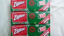 60 Ziploc Quart Size Storage Slider Bags Limited Edition Holiday Tinted Designs