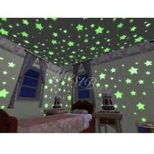 100Pcs Glow In The Dark Star Plastic Shape for Ceiling Wall Kid Bedroom Stickers
