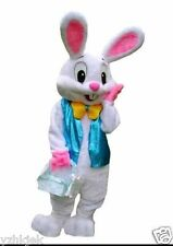 2016 New  Easter Bunny Mascot Costume Rabbit Cartoon Fancy Dress Adult Size!