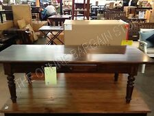 Pottery Barn PB Trivoli Tuscan black Stain Wood Sofa Coffee Table Shelf NIB
