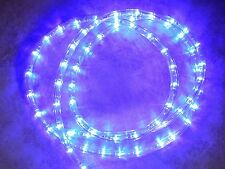 "LED Rope Christmas Light Strips - 3/8"" 110V - Warm or Cool White, Blue, Red"
