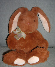 GUND  plush BUNNY RABBIT, CITRINE  DARK BROWN    ITEM #36395     12 INCH + EARS