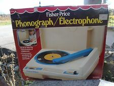 1979 Vintage Fisher Price Phonograph Record Player #825 w/ Original Box Manual
