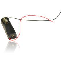 Sola batería AA titular - 150mm volar conduce, Alambre Conectores positiva y negativa