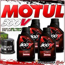 TAGLIANDO OLIO 4 L MOTUL 300 V 15W50 + FILTRO HIFLO TRIUMPH 675 Daytona 2009