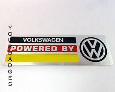 NEW Brushed Aluminium Powered By VW Car badge Volkswagen