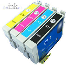 5 X COMPATIBLE  INK CARTRIDGES REPLACE EPSON T1281-T1285 - EXTRA BLACK!