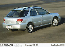 Foto de prensa subaru impreza 2.0 GX combi 9 03 foto press photo 17,8x12,7 cm 2003