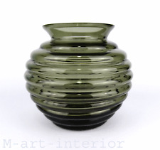 "große Glas Vase ""Felicitas"" Richard Lauke Glass Art Deco Bauhaus VLG 1938"