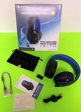 PlayStation Gold Wireless Stereo Headset - Jet Black Used #JJ