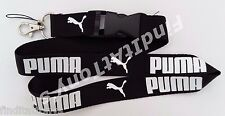 NEW PUMA Logo Black Lanyard Detachable key chain holder MP3 ID Neck Strap clip