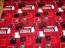 UNIVERSITY OF ALABAMA - CRIMSON TIDE -  NEW BLOCK  SQUARE DESIGN 1/2  YARD PIECE