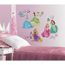 DISNEY PRINCESS ROYAL DEBUT wall stickers 36 glitter scrapbook Ariel Rapunzel
