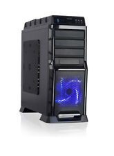 NEW 1200W Power Supply + Gaming PC Mid-Tower LED ATX USB3 Case + 3x 120mm Fans