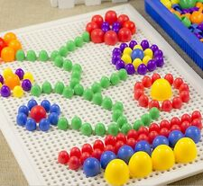 New Children Puzzle Peg Board With 296 Pegs For Kids Early Educational Toy bo