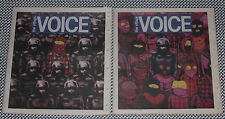 SET/2 BANKSY and OS GEMEOS covers 2013 VILLAGE VOICE New York City Newspapers