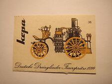 Kepa-VIGILI DEL FUOCO-tedesco tre cilindro-fuoco siringa 1899/fiammifero etichetta