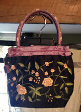Silk embroidered purse or evening bag