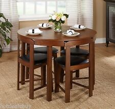 Modern 5pc Dining Table Set Kitchen Dinette Chairs Breakfast Bar Nook Patio New