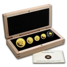 2012 Gold Canadian Maple Leaf $1 Million Coin 5th Ann. 5 Coin Set