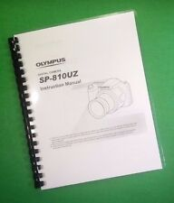 COLOR PRINTED Olympus Camera SP-810UZ SP810UZ Manual User Guide 77 Pages.