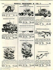 1981 ADVERT 2 Sided Monogram Snap Tite Toy Funny Car Kenworth Off Road