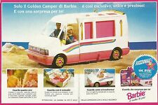 X9496 BARBIE - Golden Camper - Pubblicità 1993 - Advertising