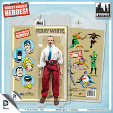 Official DC Comics Perry White 8 inch Action Figure on Mego-Like Retro Card