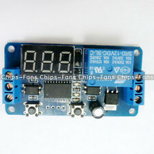 DC 12V Digital Delay Timer Control Switch Module LED Display PLC Automation New