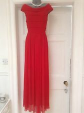 Rare London Long Red Dress with Stretch Size 10 Worn Once