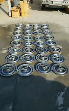 1965 IMPALA SS WHEELS COVERS/HUB CAPS WITH KNOCK OFFS USED OEM