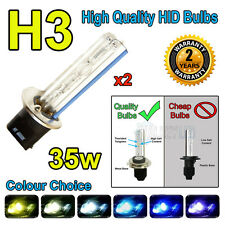 H3 3000k HID 35w Replacment Bulbs AC Xenon Metal Base Headlight Uk Seller 3k