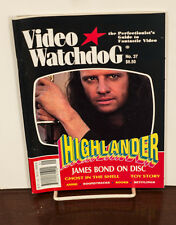 VIDEO WATCHDOG ISSUE #37 HIGHLANDER-JAMES BOND-GHOST IN THE SHELL NM/MINT