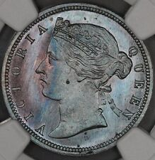 1872-H NGC SP64BN STRAITS SETTLEMENTS 1/2 HALF CENT SPECIMEN TONED MALAYSIA
