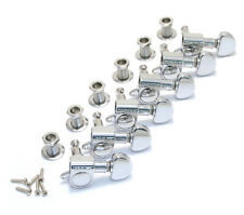 Grover 6 Inline Right Hand Chrome Mini Rotomatic Tuners Guitar 205C6