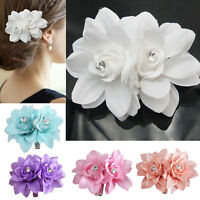 Top Sell Flower Hair Pin Clip Pin Bridal Wedding Prom Party Womens Accessories