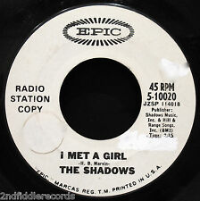 THE SHADOWS-I Met A Girl-British Rock Promo 45-EPIC #5-10020-Cliff Richard