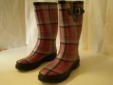 Western Chief Women Plaidly Purple Rain Boot 9 Rubber