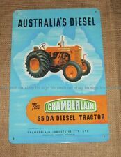 CHAMBERLAIN 55DA diesel Tractor TIN SIGN Australian farm country NEW vintage pic