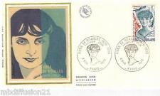 1976**ENVELOPPE SOIE**FDC 1°JOUR**ANNA DE NOAILLES-ROMANCIERE**TIMBRE Y/T 1898