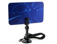 Digital Indoor TV Antenna HDTV DTV Box Ready HD VHF UHF Flat Universal Coaxial