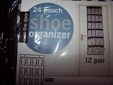 24 Pocket Over The Door Hanging Shoe Rack Organizer Storage Wall Closet Hanger !