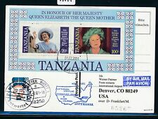 66668) LH FF Frankfurt - Denver USA 25.3.2001, card Tanzania Block