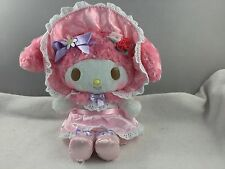 "Hello Kitty MY MELODY 40th Anniversary Fancy Plush 10"" Secret Garden Pink"