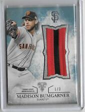 MADISON BUMGARNER 2015 TOPPS TRIPLE THREADS GAME USED PATCH #1/3