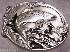 Fishing Belt Buckle Trout Salmon Fly Fishing Angler
