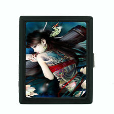 Tattoo D7 Black Cigarette Case / Metal Wallet Skin Body Art Ink Tat