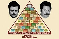 PARKS AND RECREATION - SWANSON PYRAMID OF GREATNESS POSTER 24x36 TV RON 51024