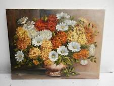 VECCHIO dipinto olio su tela fiori natura morta firmato